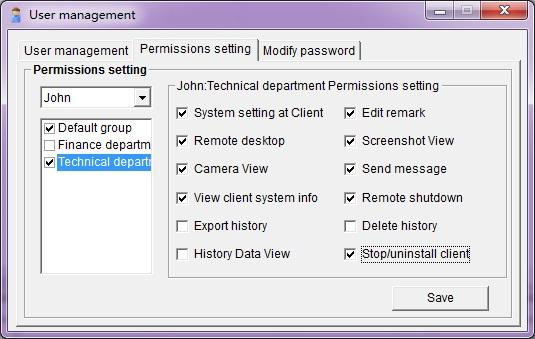 Monitoring permissions